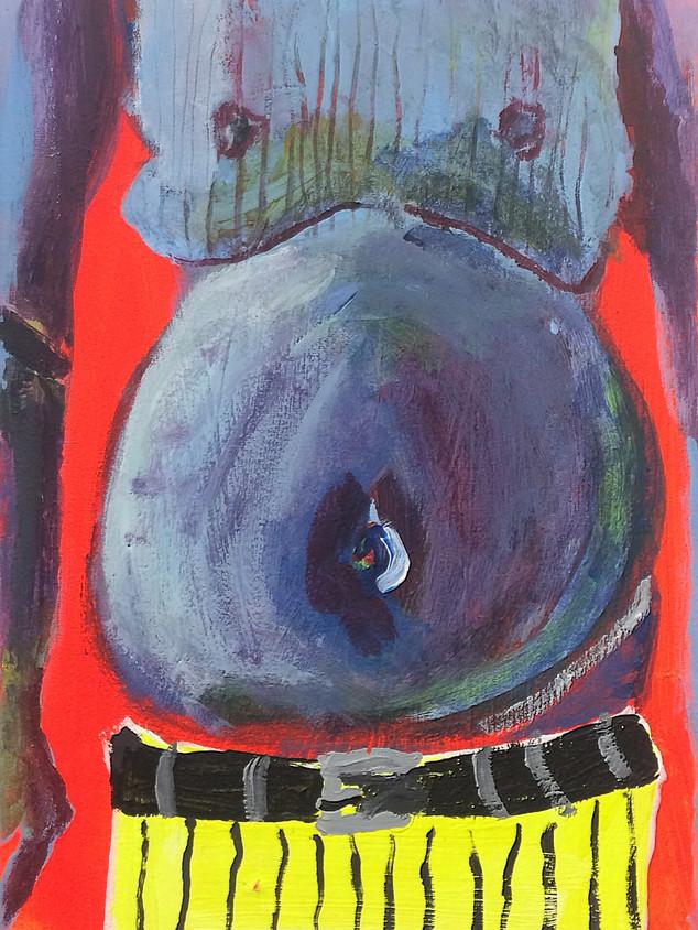 Pop Belly, 36 cm x 25 cm, acrylic on canvas