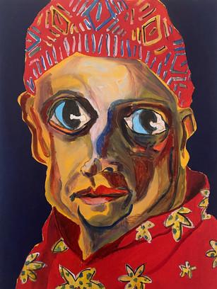 Hurry Up 2021, 40 x 30 cm, acrylic and gouache on canvas