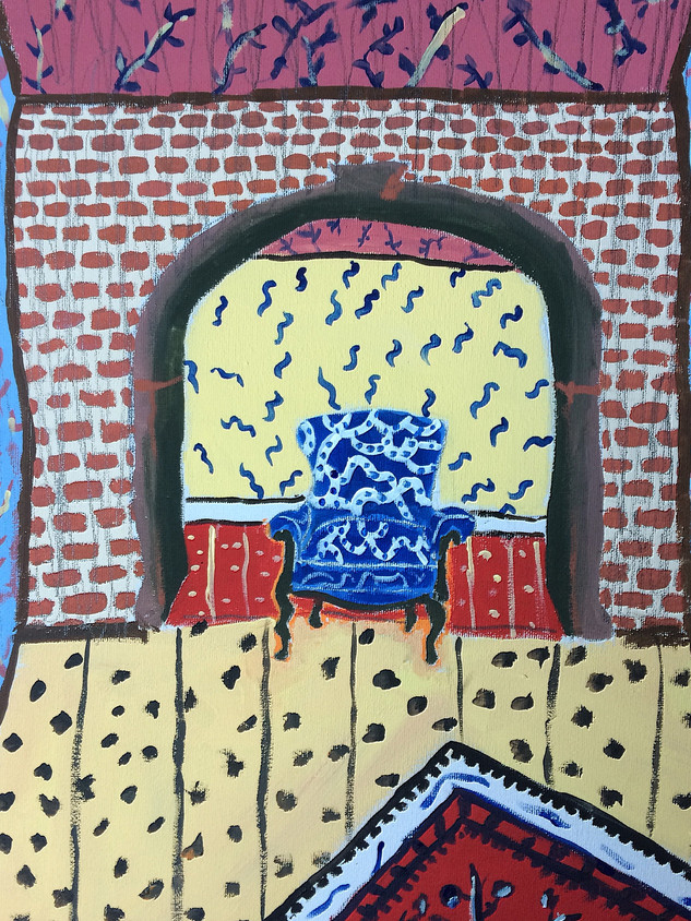 Strange Scenario, 40 cm x 30 cm, acrylic on canvas