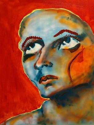 Rosy Cheeked, 50x40cm, acrylic on canvas
