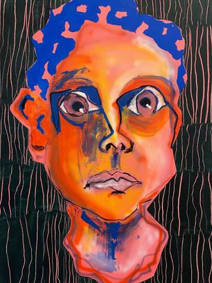 Me, Me, Me, 60x45cm, acrylic on canvas
