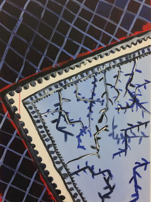 Blue, 61 cm x 41 cm, acrylic on canvas