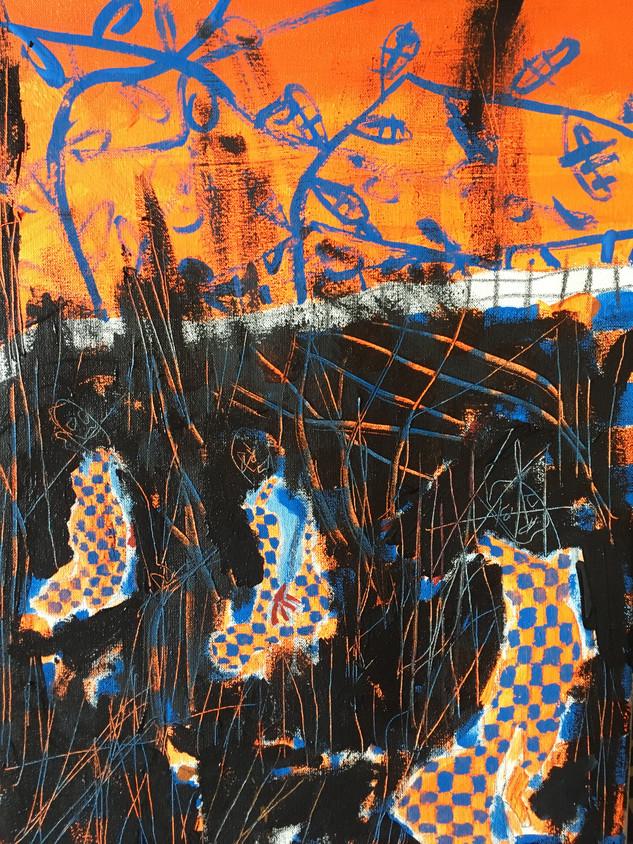 Chaos in my Head, 36 cm x 25 cm, acrylic on canvas