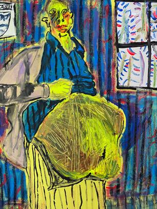 Feeling Stuffed, 40 cm x 30 cm, acrylic on canvas