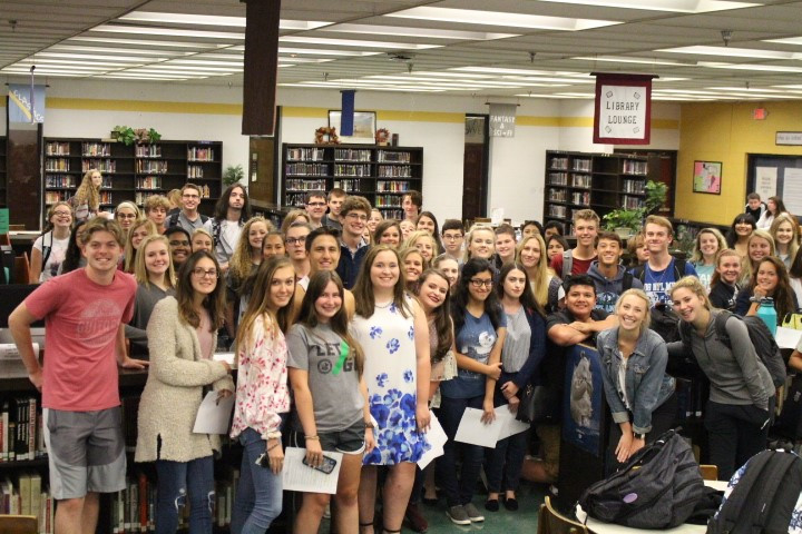 Beta Club members meet up to discuss tailgate table and upcoming Beta Convention.