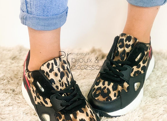 Sneakers red Leopard