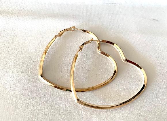 Orecchini heart steel