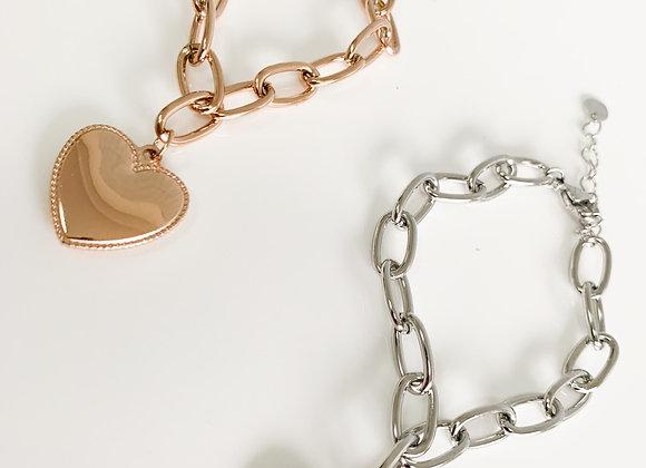 Bracciale cuore chain