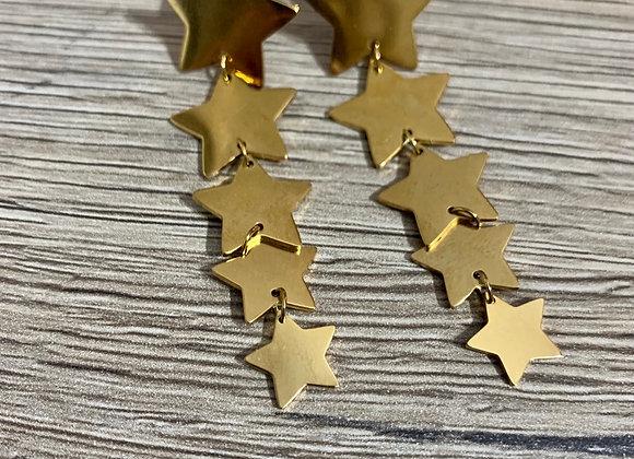 Orecchini cascata di stelle