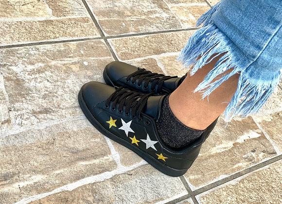 Sneakers ecopelle stelle