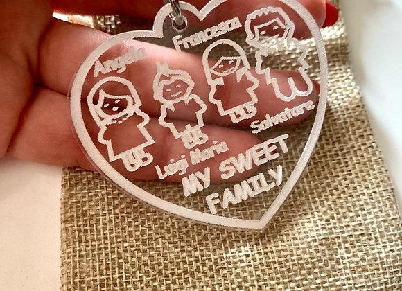 Portachiavi cuore family