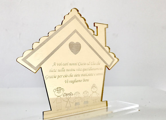 Targa casa famiglia