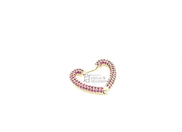 Orecchino hoops heart