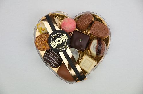 Hart gevuld met bonbons