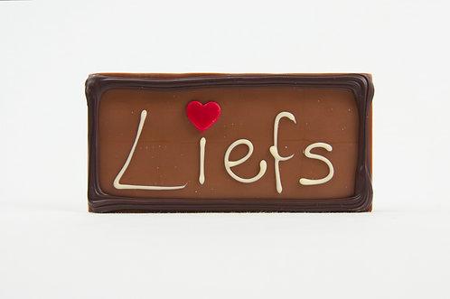Chocolade boodschap 'Liefs'