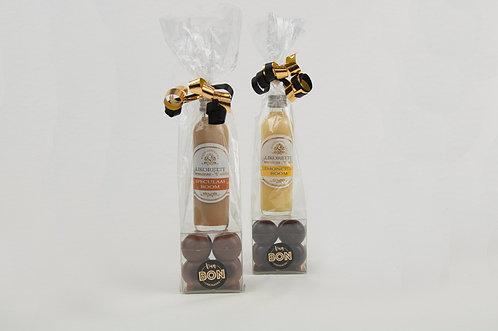 Mini likorette met chocolade cupjes