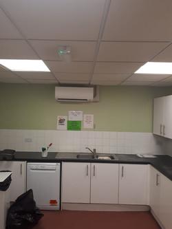 Air con unit in a kitchen