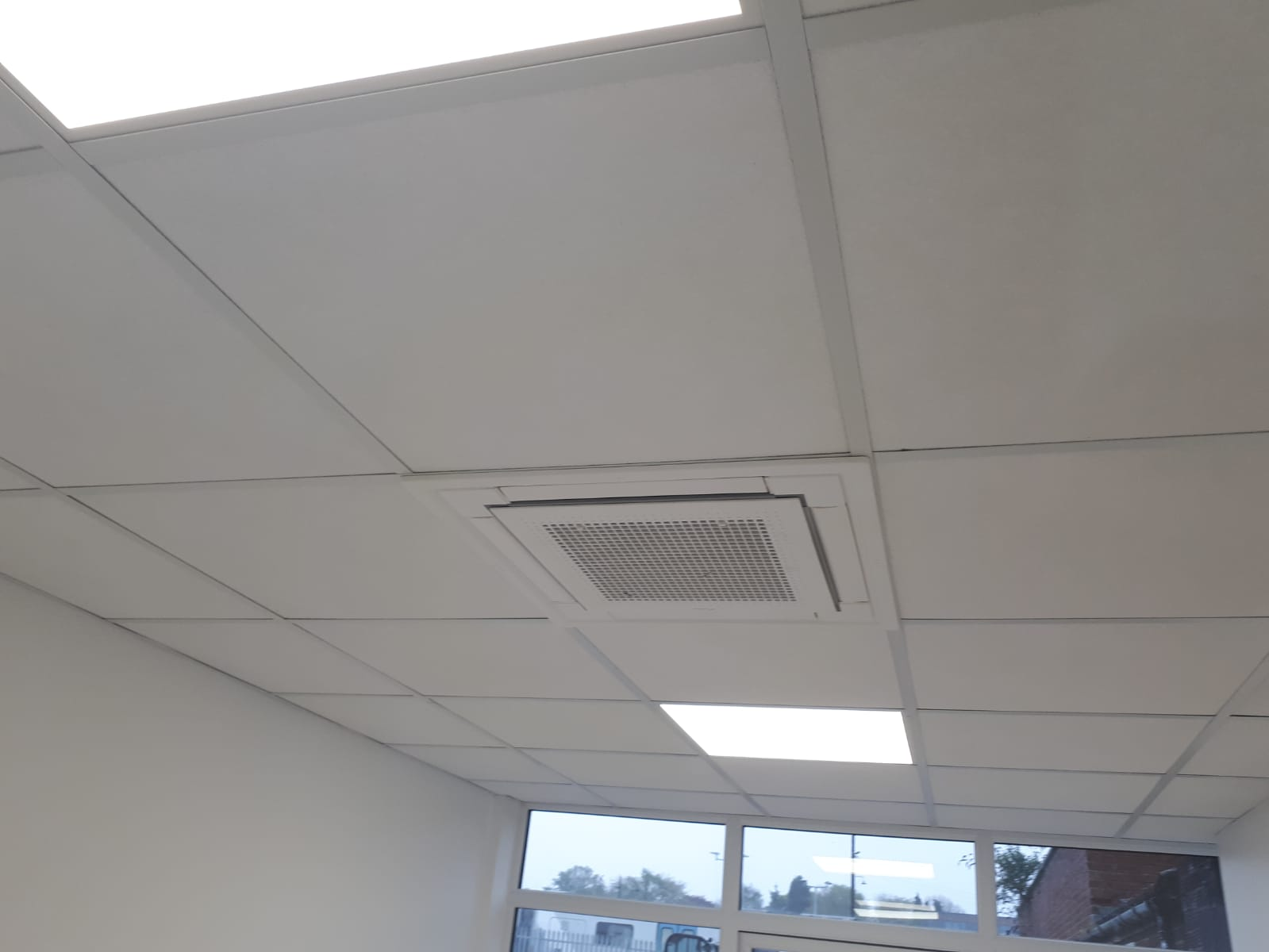 Ventilation grill in ceiling