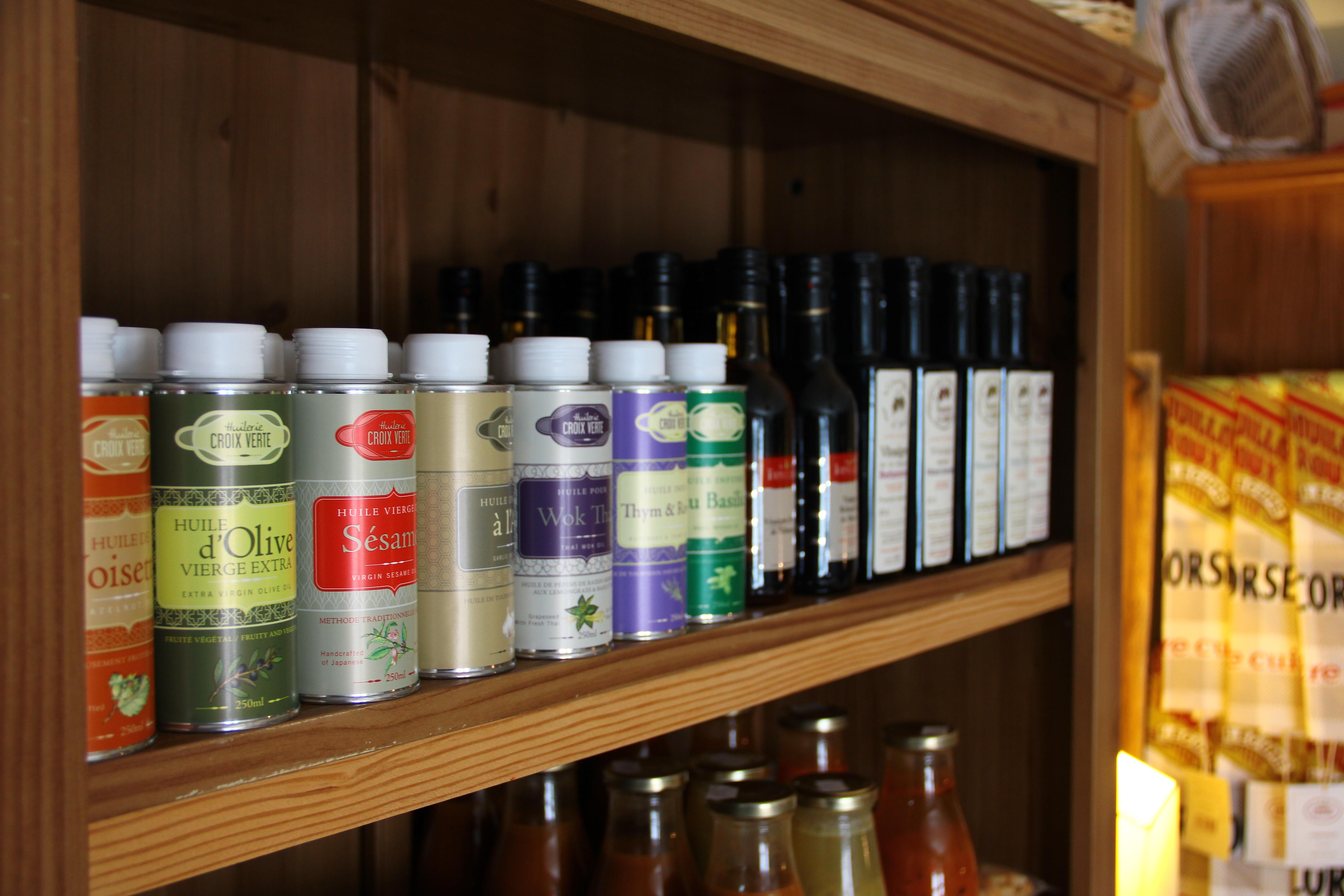 Les huiles et vinaigres
