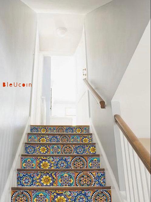 Sicilian Stair Riser - Reserved listing for Elene