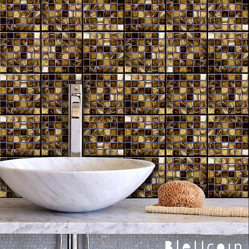 "40% discount -Gold Mosaic 5"" x 5"".Glossy - 40 pcs"