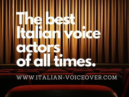 The best 10 Italian male voice actors of all time