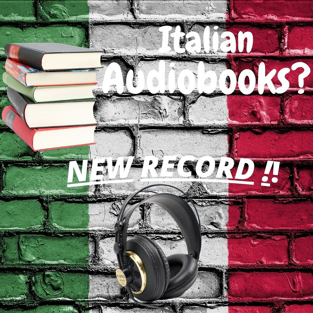 audiobooks in Italy record of new listeners