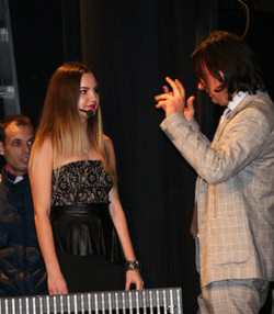 With Maria Morelli