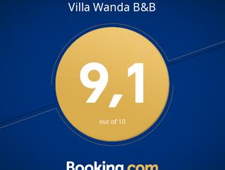 Un riconoscimento importante per lo staff di Villa Wanda direttamente dai suoi ospiti!