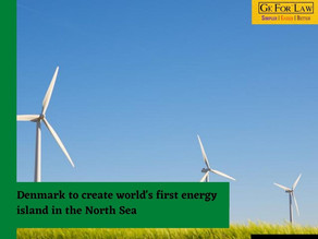 Denmark to create world's first energy island in the North Sea