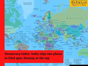 Democracy Index: India slips two places to 53rd position; Norway at the top