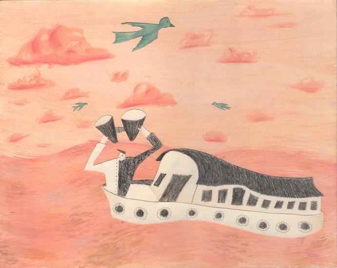 Away at sea