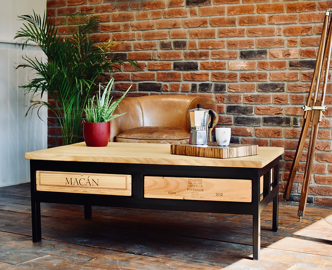 4x1 Acier Coffee Table
