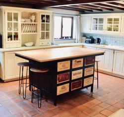 Bespoke Acier kitchen island