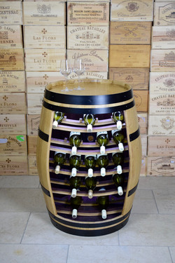 Albany wine rack with LED lighting