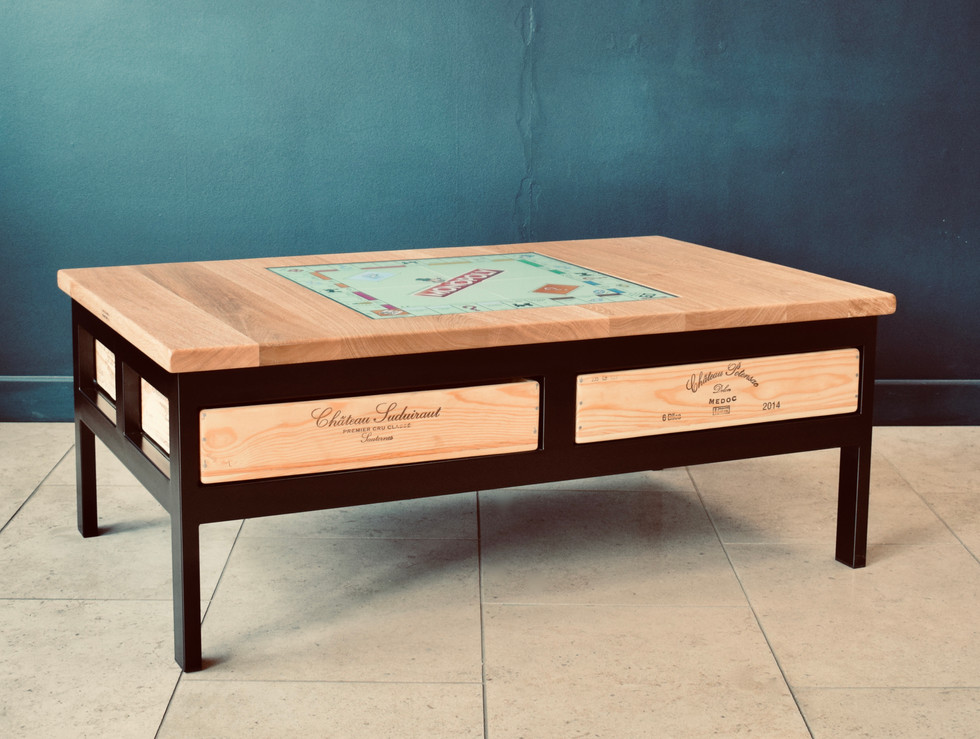 4x1 Acier games table