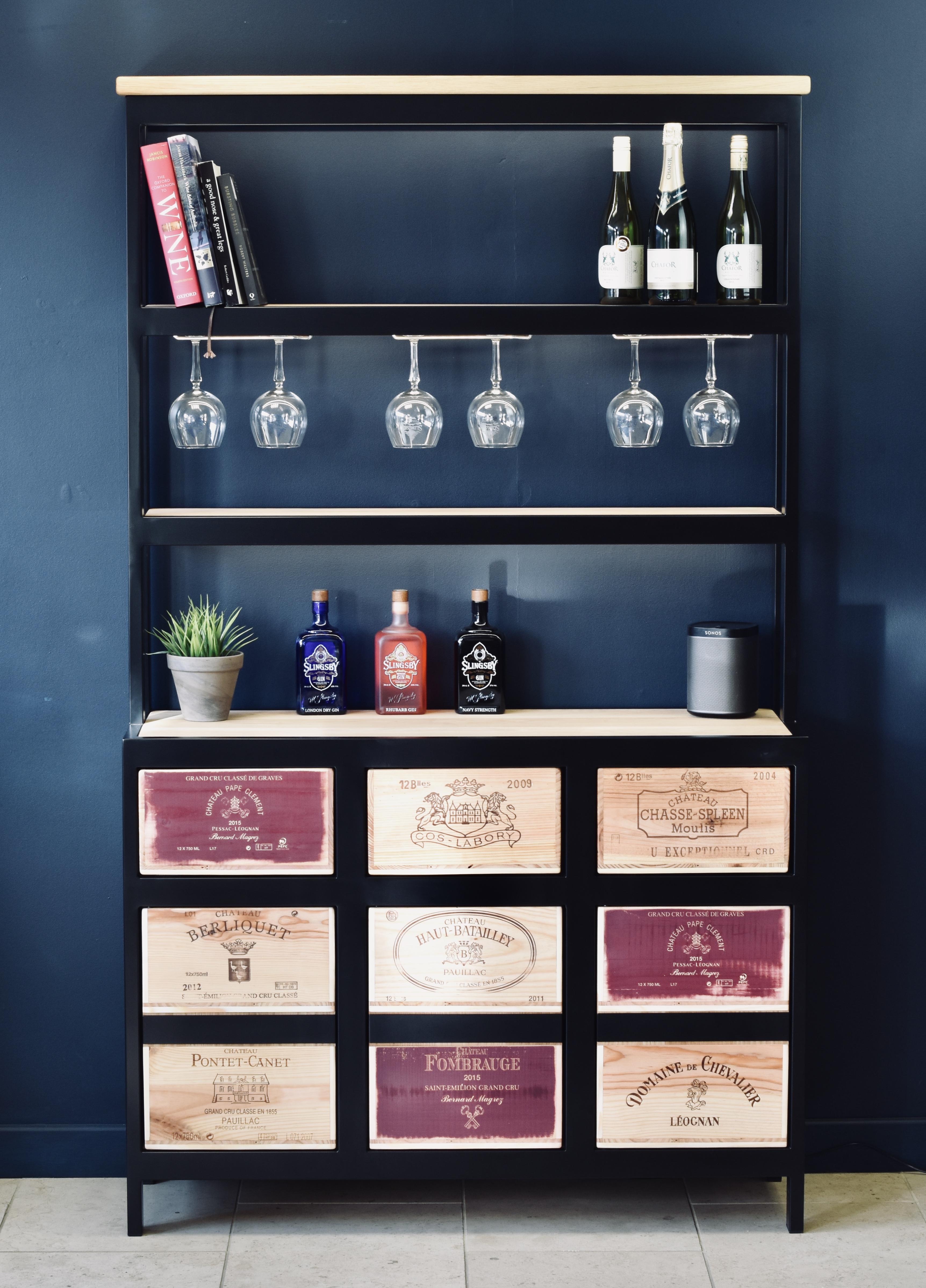 Bespoke Acier drinks cabinet