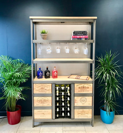 Custom Acier drinks cabinet