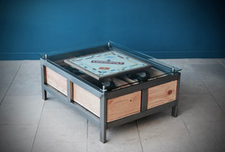 Custom Acier games table