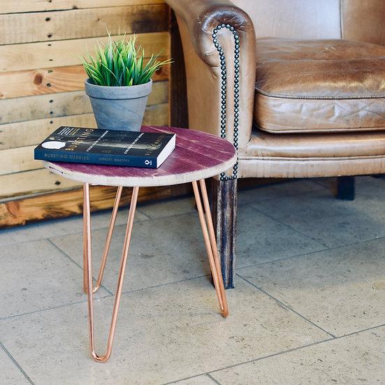 Headboard side table (copper/red wine)