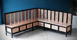 Acier L shaped bench