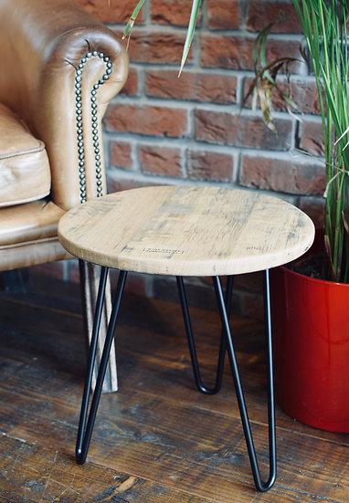 Headboard Side Table (Black/character oak)