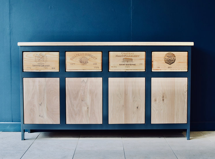 4x3 Acier with 4 oak cupboards