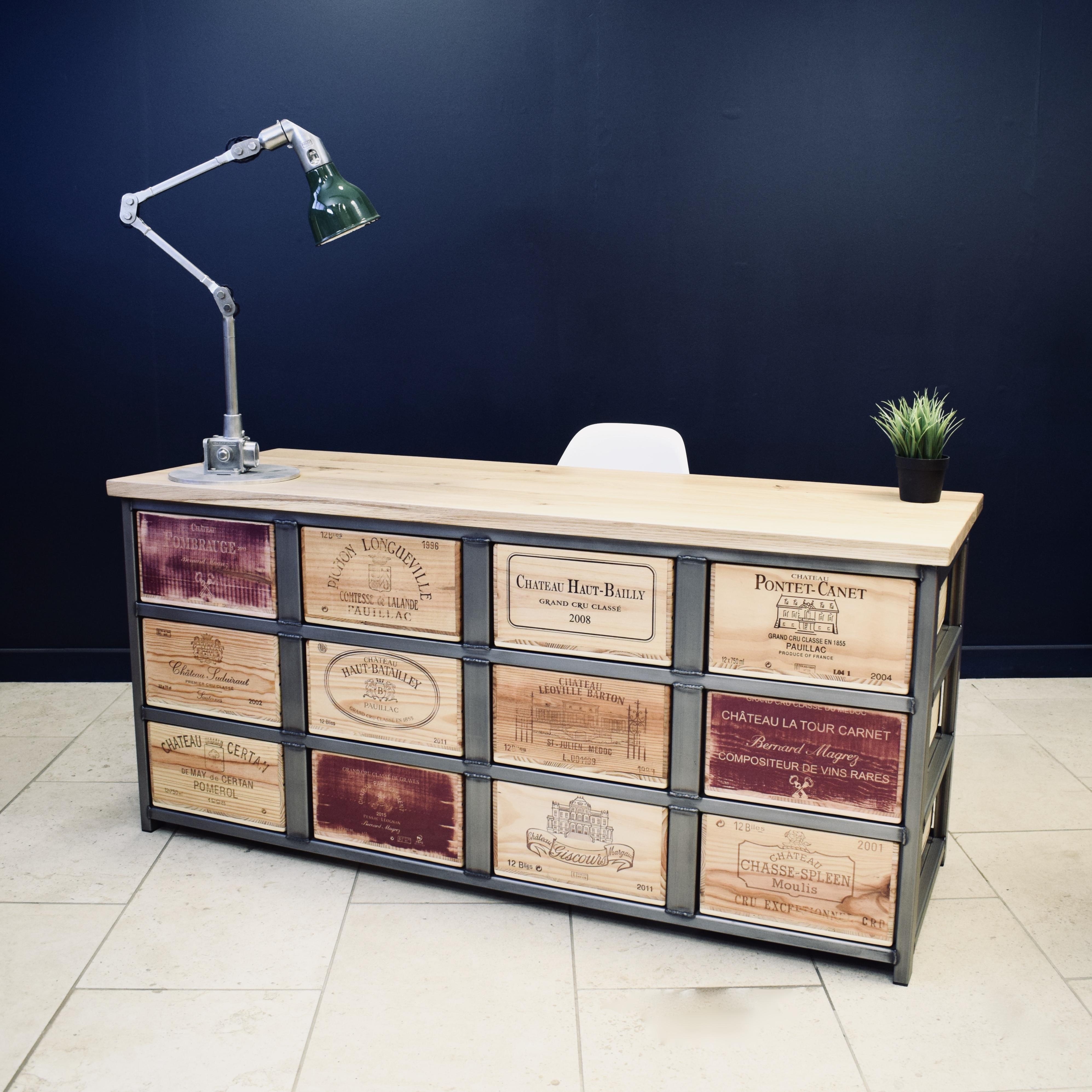Acier double fronted desk