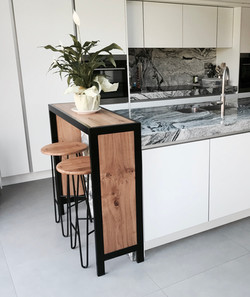 Custom breakfast bar and stools
