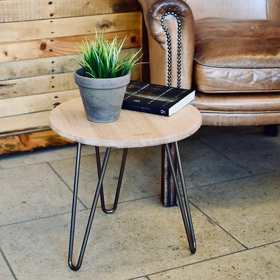 Headboard Side Table (clear/oak)