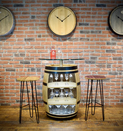 Bespoke wine barrel glass cupboard