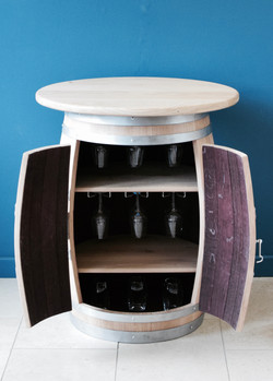 Custom oak topped drinks cabinet