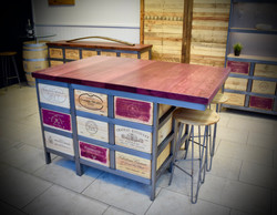 Bespoke purple heart kitchen island