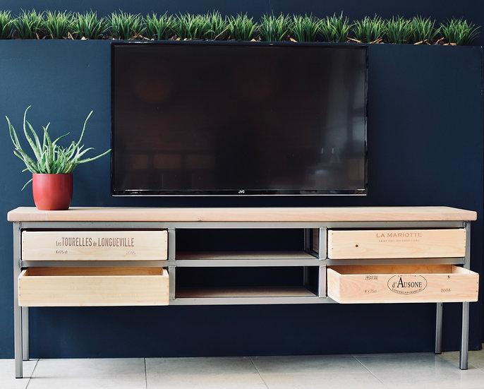 NEW 2x2 Acier TV cabinet